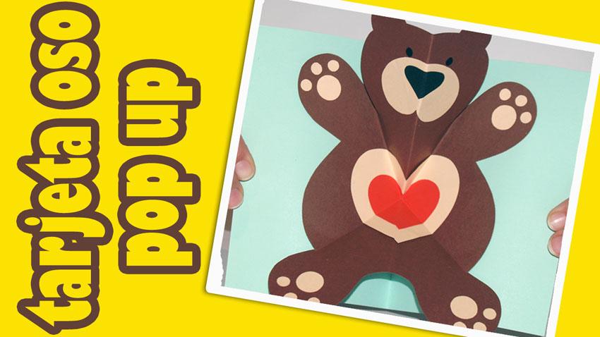 tarjeta pop up osito teddy