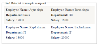 Bind DataList with Sql server database table in asp.net