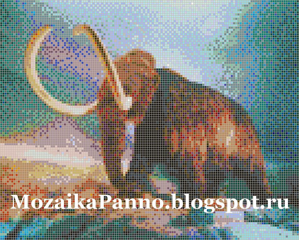 Мозаичное панно «Мамонт»