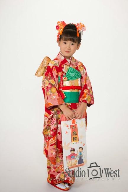 7 year old Kimono Portrait