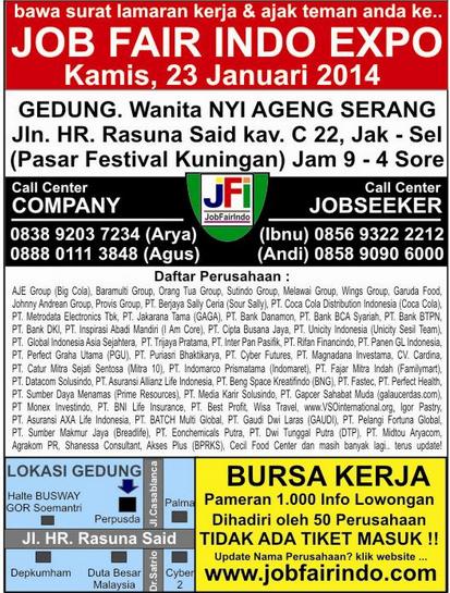 Brosur Job Fair Expo 2014