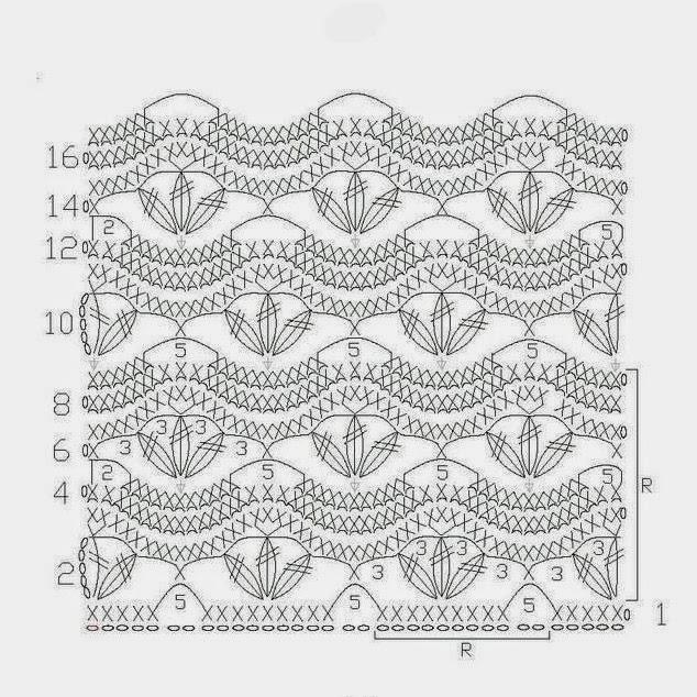 Вязание крючком образцы узоров схемы 73