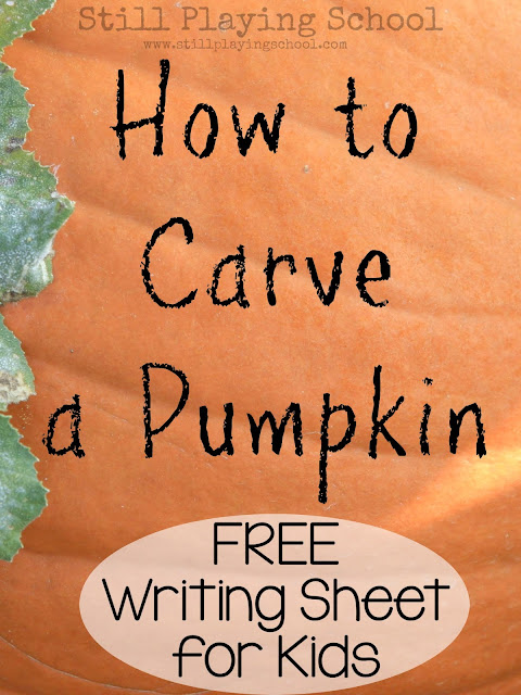 Fall Writing Prompt How to Carve a Pumpkin