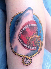 3D Shark Tattoo