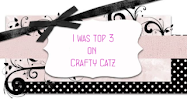I made top 3 at Crafty Catz