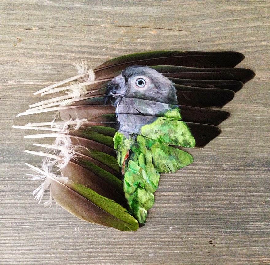 ببغاء أخضر