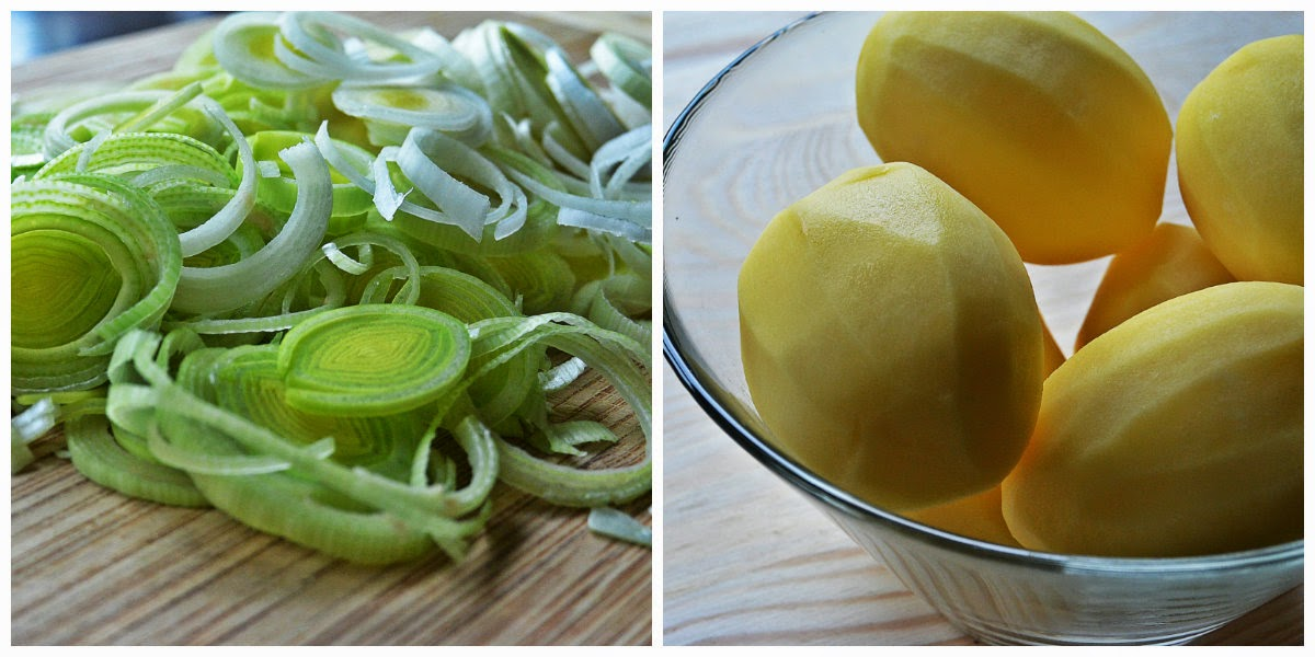 Rozgrzewający krem ziemniaczany - por i ziemniaki