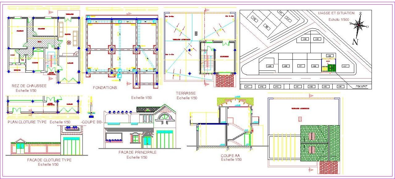 Plan de masse maison gratuit for Plan maison logiciel gratuit