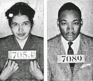 Rosa Parks & Martin Luther King Montgomery Bus Boycott Mugshot