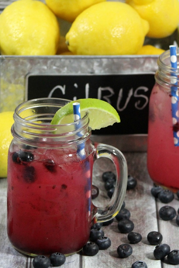 Blueberry Lemon Limeade -- a perfect summer drink recipe!