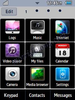 iPad Style Menus Blue Planet Samsung Corby 2 Theme Menu