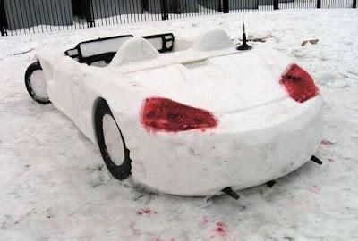 Muñeco de nieve Porsche