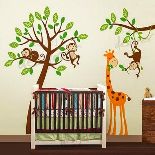 Une decoration girafe bébé