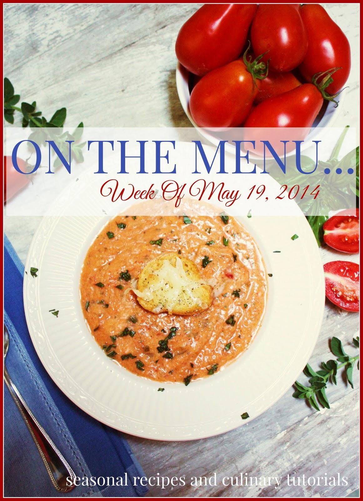 on the menu week of may 19, 2014