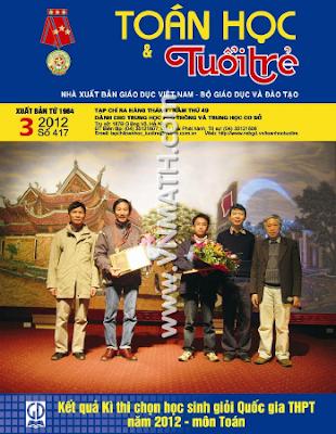 Tạp chí Toán học Tuổi trẻ số 417 tháng 3 năm 2012