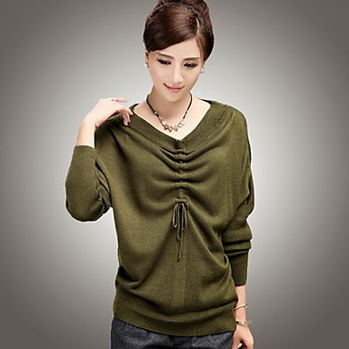 ladies drawstring fashion sweater