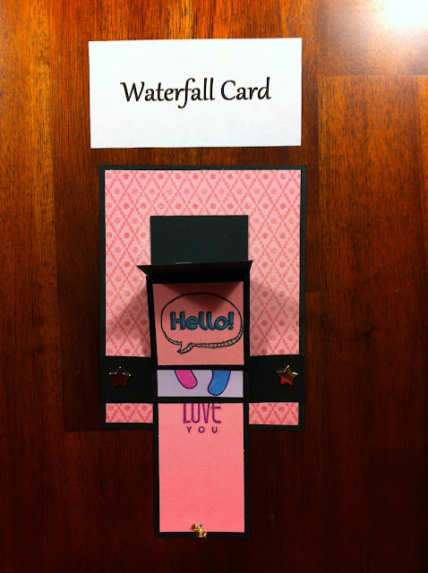water-fall-card-wedding-pink-cute-hello