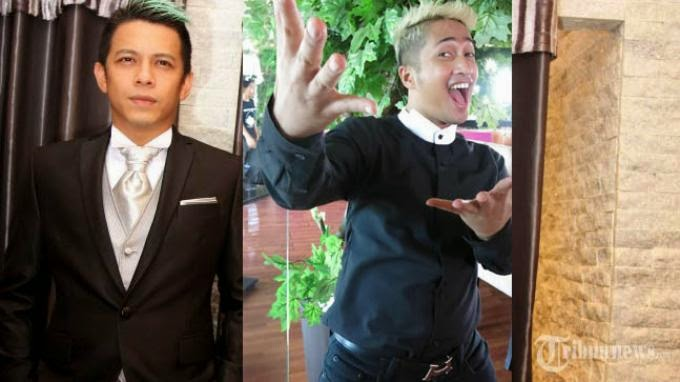 Foto Gaya Rambut Ariel NOAH vs Irfan Hakim Model Mohawk Hijau