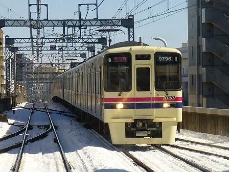 京王電鉄 準特急 高尾行き3 9000系(2014大雪のため日中運行)