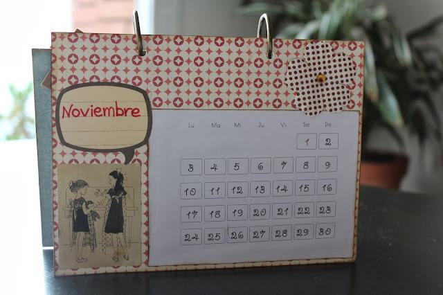 Calendario scrapbooking noviembre