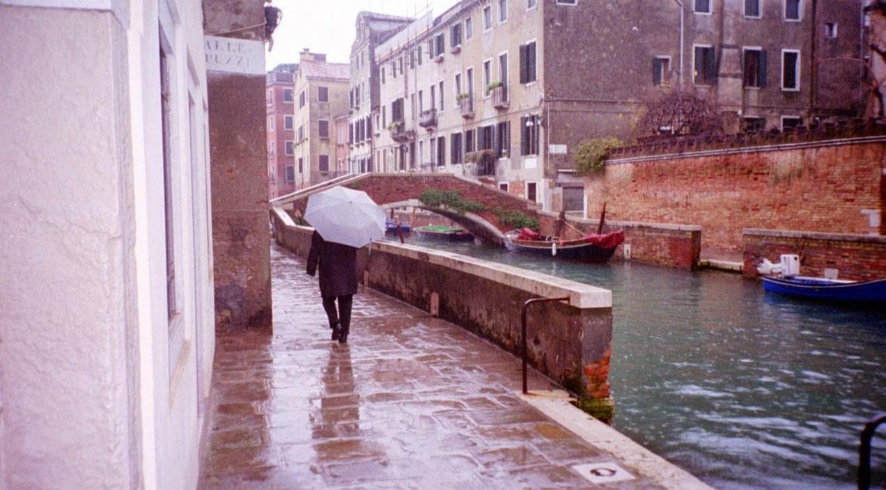 Venice late autumn aqua alta