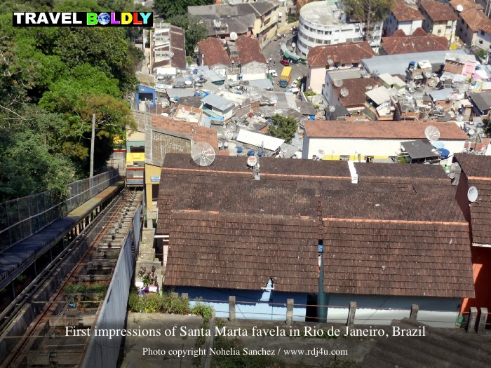 First impresions of Santa Marta favela in Rio de Janeiro, Brazil. Photo copyright Nohelia Sanchez / www.rdj4u.com for www.TravelBoldly.com