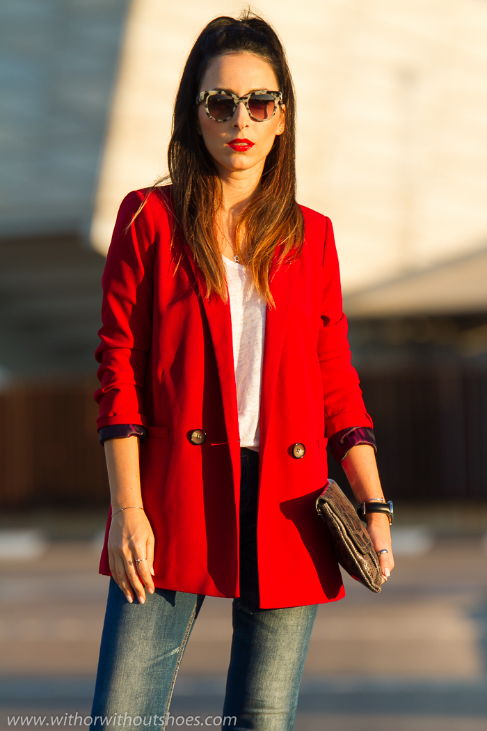 Urban Chic Americana Roja Jeans Y Sandalias Rosas | With Or Without Shoes - Blog Influencer ...