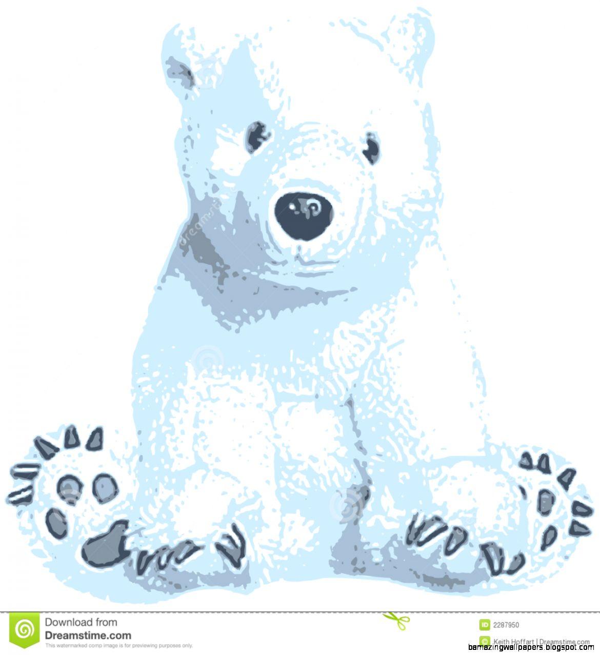 Cute Polar Bear Clip Art Stock Photo   Image 2287950
