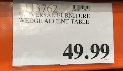 Deal for the Universal Furniture Broadmoore Wedge-Shaped Accent Table at Costco