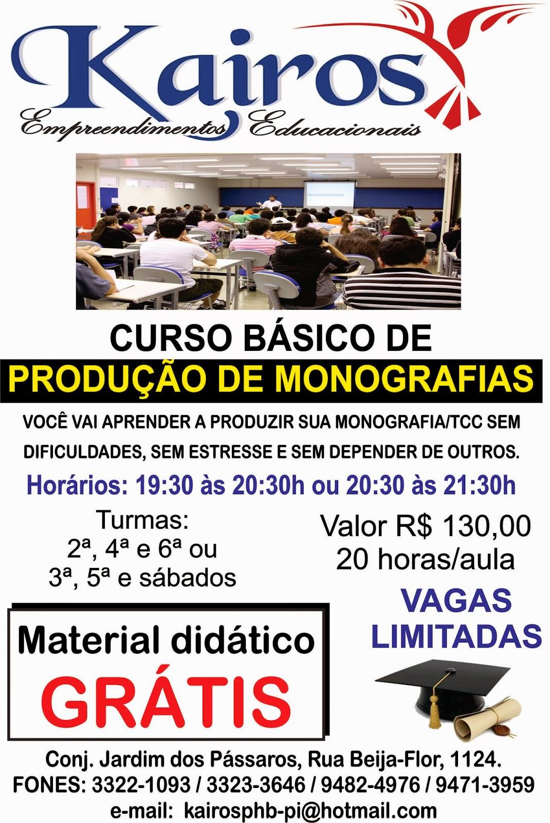 Curso Básico de Produção de Monografias.
