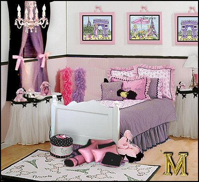Girl Bedroom Ideas on Little Girls French Poodle Inspired Bedroom