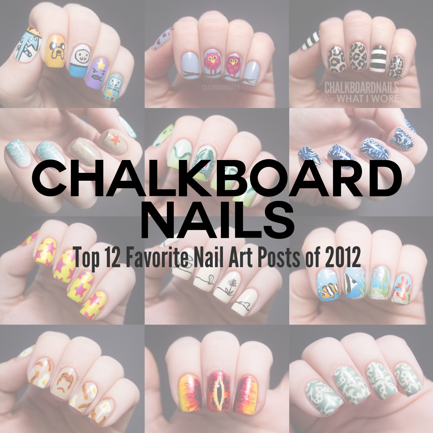 My Top 12 Favorite Nail Art Posts Of 2012 Chalkboard Nails Nail