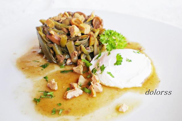 Jud as verdes y habas con huevo poch y foie micuit olla - Judias verdes en olla express ...