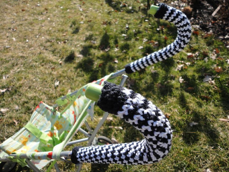 Just Yarning Free Umbrella Stroller Handle Cover Crochet Pattern