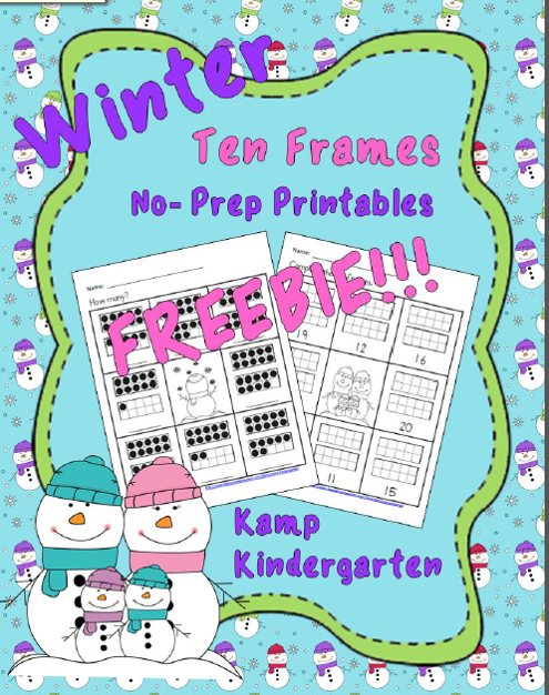 https://www.teacherspayteachers.com/Product/Winter-No-Prep-Printables-Ten-Frames-FREEBIE-Quantities-of-11-to-20-1621552