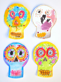 Paper Plate Dia De Los Muertos Skulls- Beautiful and easy craft to celebrate this holiday