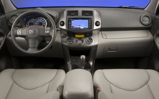 Interior shot of 2011 Toyota RAV4