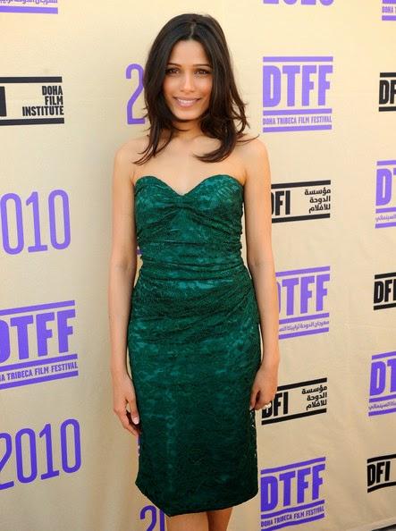Freida Pinto looks smokingly hot sexy in her tight green mini skirt hot sexy bollywood actress unseen pics