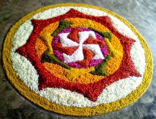 Flower Rangoli Designs for Diwali 2013