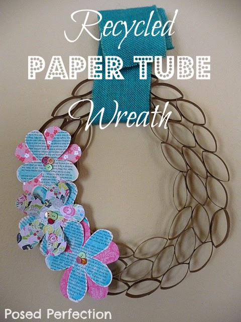 Springy Recycled Paper Tube Wreath