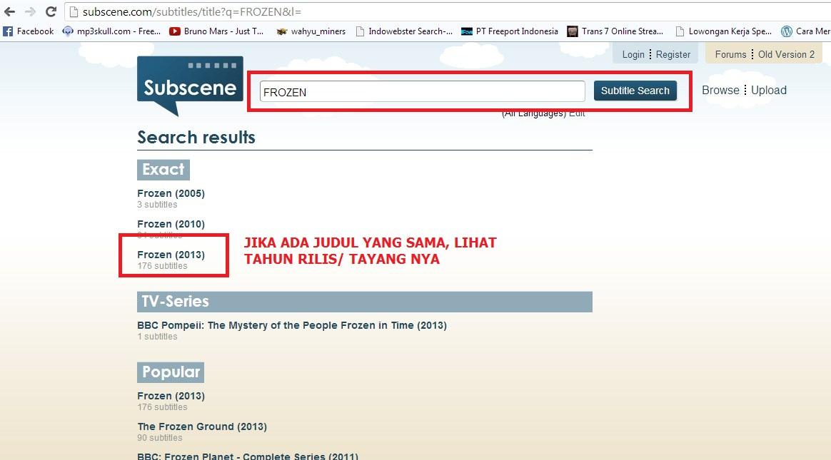 20 Cari Subtitle Indonesia Sesuaikan Kualitas Film Download Bluray