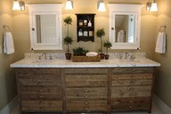 Rustic Piece Of Furniture, Transformed Into A Charming Bathroom Vanity