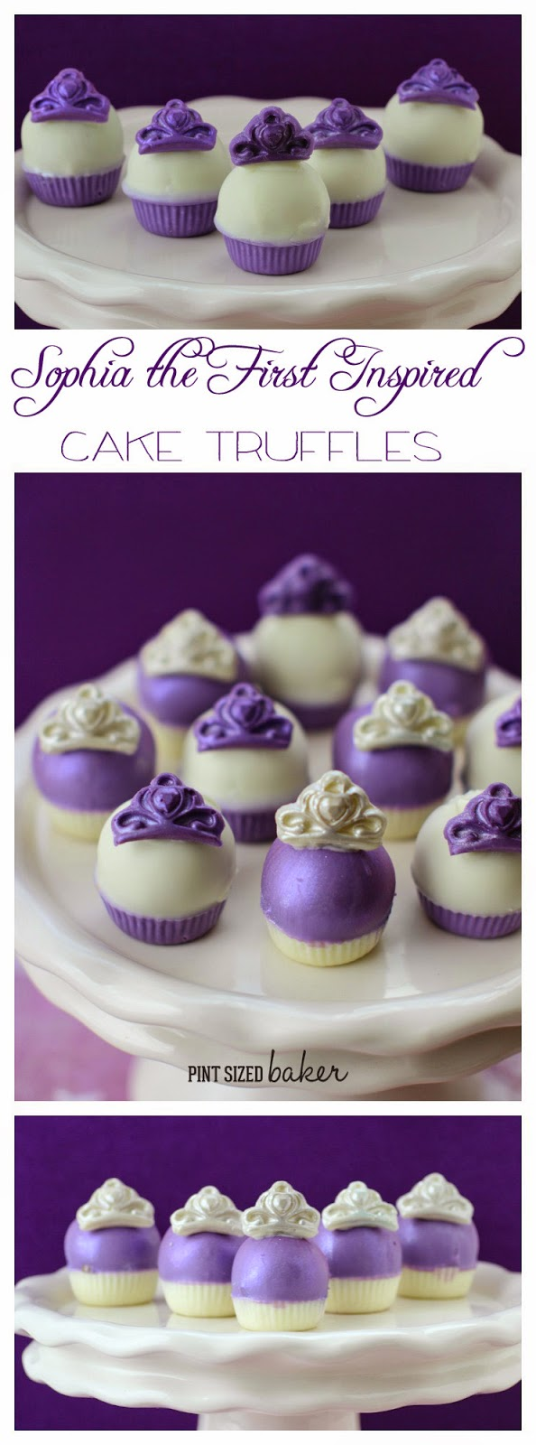 These Sophia the First Inspired Cake Truffles are going to have all the little princesses pleased at the next birthday party!
