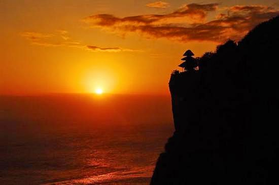 Attraction in Bali, Sunset in Uluwatu