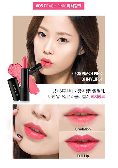 Son thỏi oh my lip karadium màu peach pink
