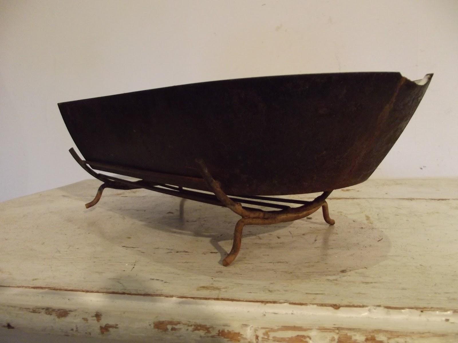 l che frite plat a jus en fonte pour tourne broche de chemin e estampill couron ebay. Black Bedroom Furniture Sets. Home Design Ideas