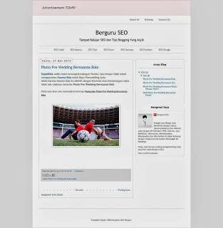 Hasil Akhir Cara Mendekorasi Template Blog