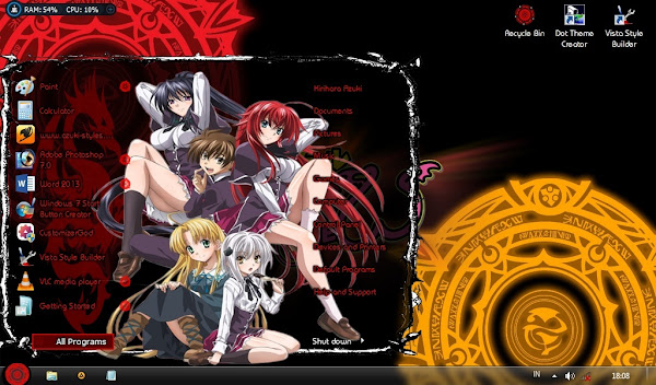 High School DXD – Windows 7 Theme 1