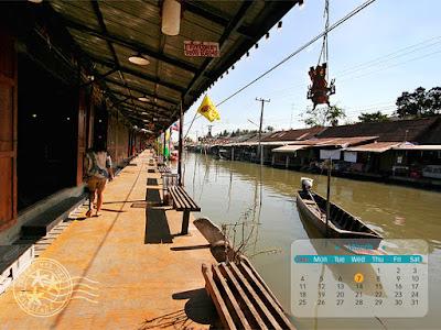 Umpawa Market Float, Thailand