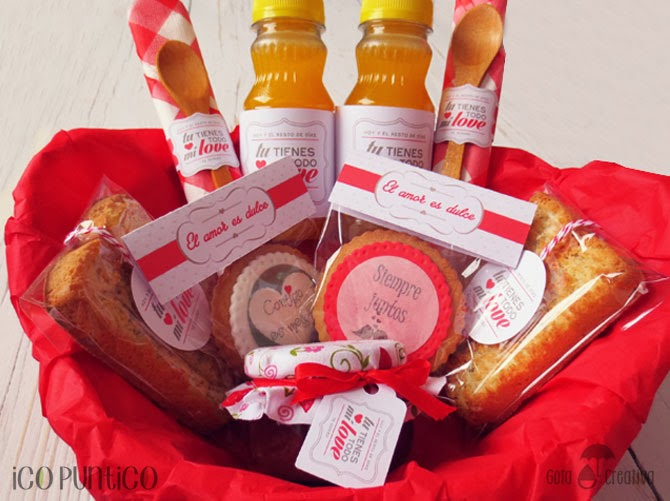 desayuno san valentín Gota Creativa + Ico Puntico